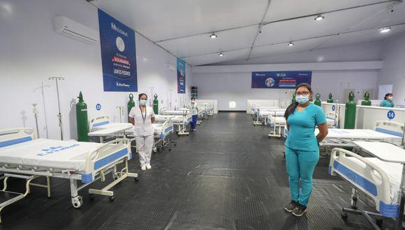 Dos hospitales temporales reforzarán la atención médica a la población contra el coronavirus en la región Moquegua luego que representantes del Poder Ejecutivo, del Seguro Social de Salud y el gobernador regional inauguraran el primer nosocomio itinerante. (Foto difusión).