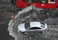 Lluvias torrenciales inundan calles del sur de Londres (FOTOS)