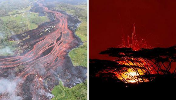 Las dramáticas imágenes del volcán Kilauea durante su erupción en Hawai (EN VIVO)
