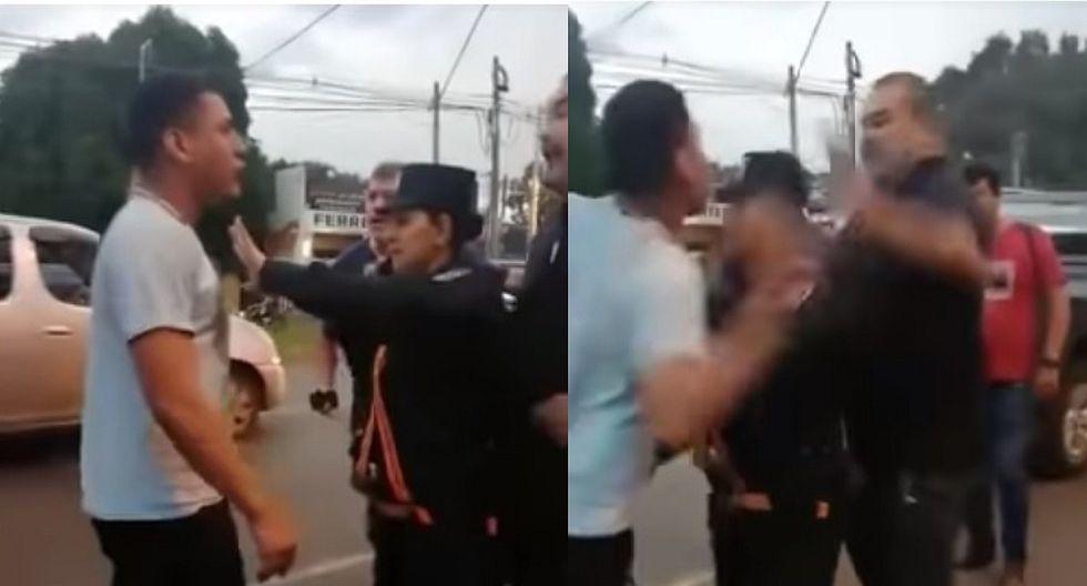 José Luis Chilavert y chofer de bus protagonizan altercado en la calle