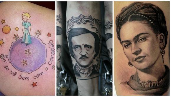 Tatuajes de escritores que hablan de la soledad y el amor son los más solicitados [FOTOS]