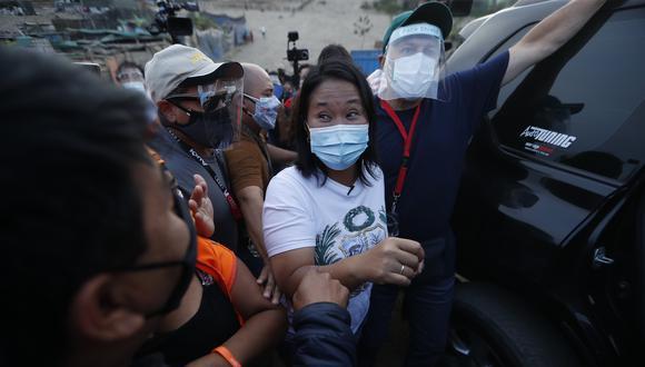 """Keiko Fujimori aseveró que una eventual reprogramación del debate deberá ser definida """"más adelante"""" y reiteró su pedido a Pedro Castillo para que """"no se corra"""".(Foto: GEC)"""