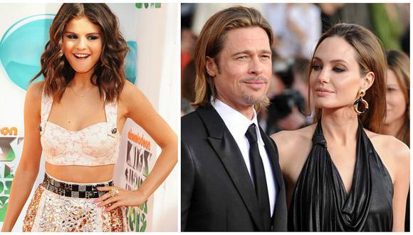 Esta es la foto de Brad Pitt y Selena Gomez que enfureció a Angelina Jolie (FOTOS)