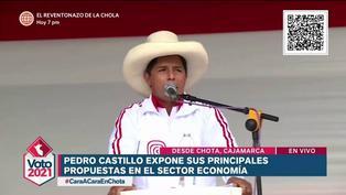 Pedro Castillo y sus propuestas en economía que expuso en el debate presidencial