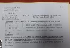 Huancavelica: Militante de Perú Libre pide vacancia de regidores fiscalizadores