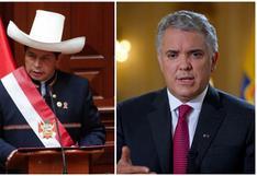 Pedro Castillo saludó a los presidentes asistentes a su juramentación, menos a Iván Duque