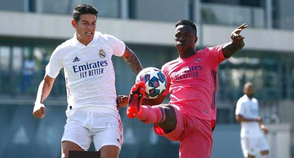 James Rodríguez sorprende en práctica de Real Madrid tras encuentro con Florentino Pérez (VIDEO)