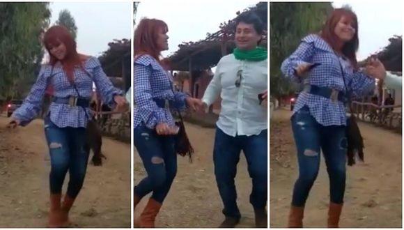 Magaly Medina y su peculiar baile del hit 'La Bicicleta' junto a su esposo (VIDEO)