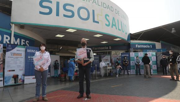 El alcalde de Lima participó de jornada junto a la ministra de Salud. (Foto: MML)