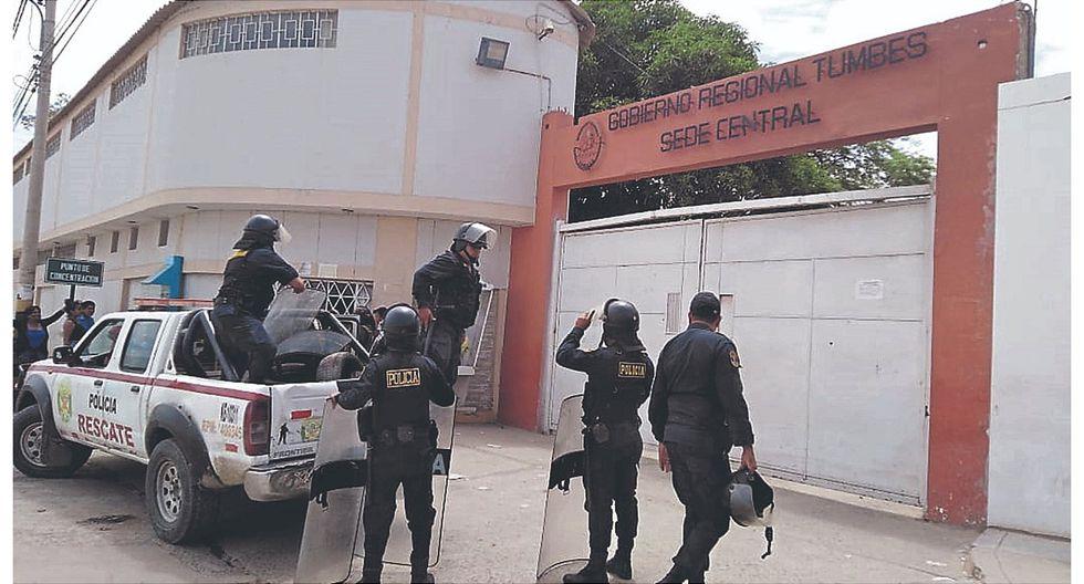 Banda operaría desde la sede del Gobierno Regional de Tumbes