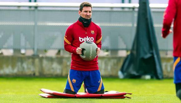 Barcelona publicó el parte médico de Lionel Messi. (Foto: AFP))