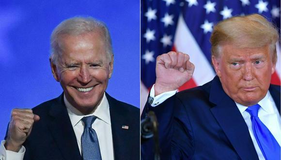 Joe Biden ganó las elecciones de Estados Unidos, pero Donald Trump se niega a reconocer su derrota. (ANGELA  WEISS y MANDEL NGAN / AFP).