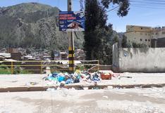 Los domingos las calles de Huancavelica se convierten en un basural