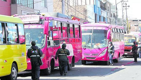 Arequipa: Cien multas en 10 días a transportistas por no cumplir protocolos