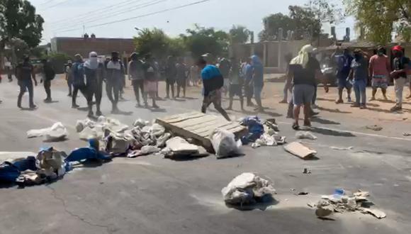 La Libertad: policías logran desbloquear un tramo de la Panamericana Norte en Virú. (Foto referencial: Difusión)