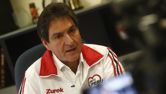 Juan Carlos Zurek informó este lunes que un sector de Somos Perú ha solicitado al expresidente y candidato al Congreso, Martín Vizcarra, que se aparte del partido. (Foto: GEC)
