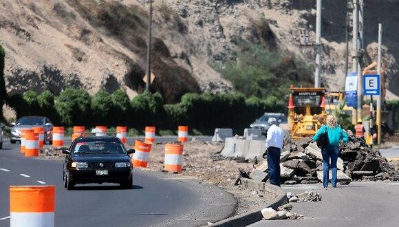 Alcalde de Miraflores pide se priorice obra de la Costa Verde por marcado deterioro en zona ribereña