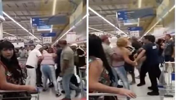 Clientes se agarran a golpes por las últimas milanesas que quedaban en un supermercado (VIDEO)