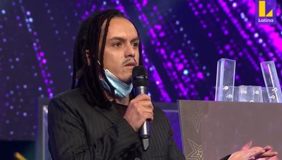 Paolo Ávalos, imitador de Jonathan Davis de Korn, abandonó la competencia por decisión del jurado. (Foto: Captura de video)