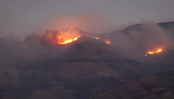 Ayacucho: reportan nuevos incendios forestales en Huamanga y Vilcashuamán (Foto difusión).