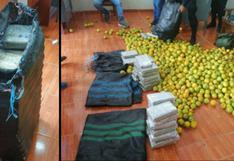 Sacos con naranjas iban cargados con más de 41 kilos de marihuana en Huánuco