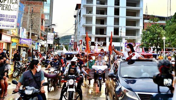 Candidata presidencial de Fuerza Popular llegará el sábado a Chota. Militantes de su partido organizan una seguridad privada. (Foto: Twitter Keiko Fujimori)