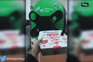 Drone sorprende a clientes al cobrar y entregar pedidos por delivery