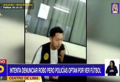 Comerciante denunció robo de joyas, pero policía prefirió ver el partido de fútbol