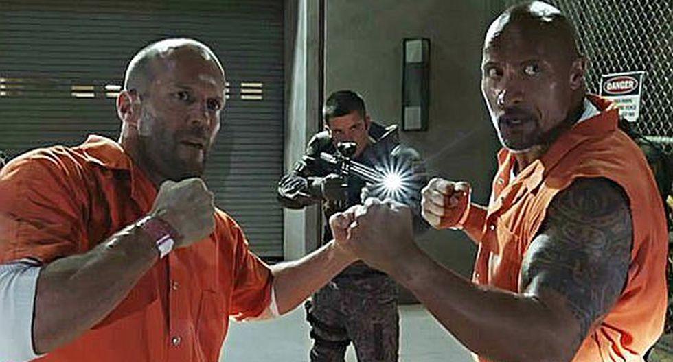 """""""Rápidos y furiosos"""": 'La Roca' y Jason Statham tendrán su propia película"""