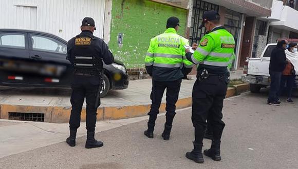 Foto referencial. Serenazgo y Policía de Huancayo durante una diligencia. (Foto: Serenazgo de Huancayo)