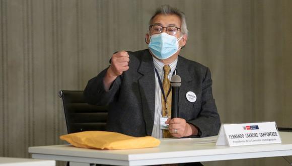 Fernando Carbone presidió la comisión sectorial investigadora de la aplicación anticipada de la vacuna contra el COVID-19. (Foto: Minsa)