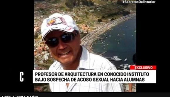 El profesor Gerardo Calderón también habría difundido material audiovisual con contenido sexual. (Captura de video)