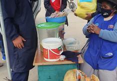 Bolsas con víveres para madres trabajadoras de Huancavelica