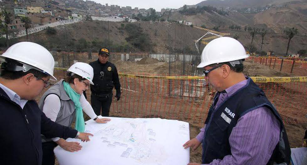 Susana Villarán supervisó obras en el Parque Zonal Cahuide