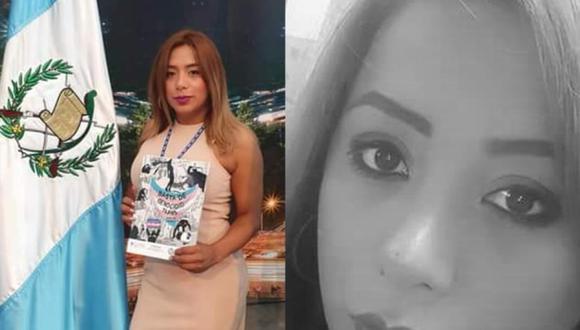 """La representante legal de """"OTRANS Reinas de la Noche"""", Andrea Gonzales, fue asesinada en el centro histórico de la Ciudad de Guatemala. (Foto: composición   Twitter)"""