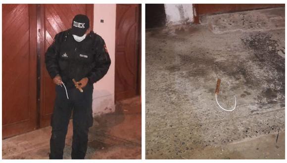 Llegaron en una motocicleta y arrojaron el artefacto explosivo. Agentes de la UDEX lograron desactivarlo.