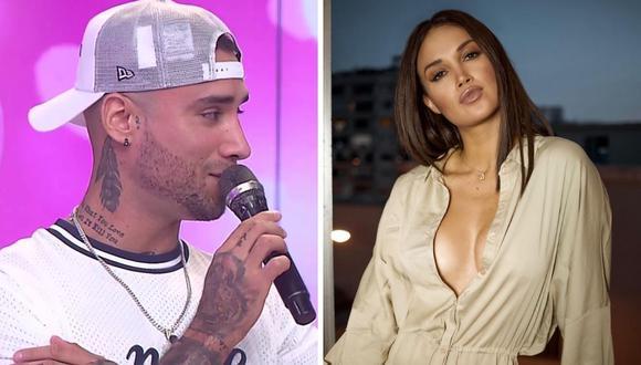 Jota Benz creo polémica al afirmar que la modelo Angie Arizaga es su prometida. (Foto: Instagram / @angiearizaga / Captura América TV).