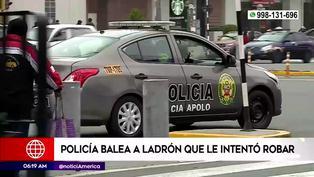 La Victoria: Policía baleó a presunto delincuente que intentó robarle su moto (VIDEO)