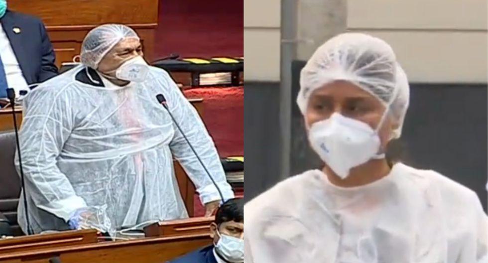 Ambos parlamentario de Alianza Para el Progreso llamaron la atención por sus extremas medidas para protegerse del coronavirus.