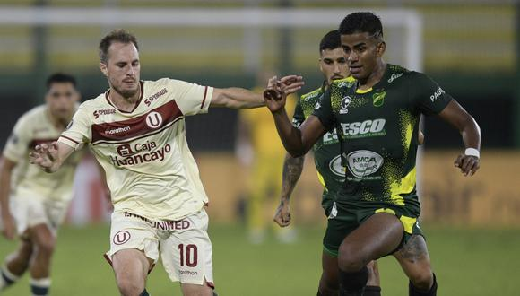 Defensa y Justicia goleó a Universitario de Deportes y es líder del Grupo A de Copa Libertadores 2021 (Foto: AFP)