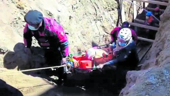 Según los vecinos, fueron dos los obreros que colocaban los puntales y al promediar las 10:00 horas, José Durand fue sepultado en un 80% y evacuado al hospital EsSalud