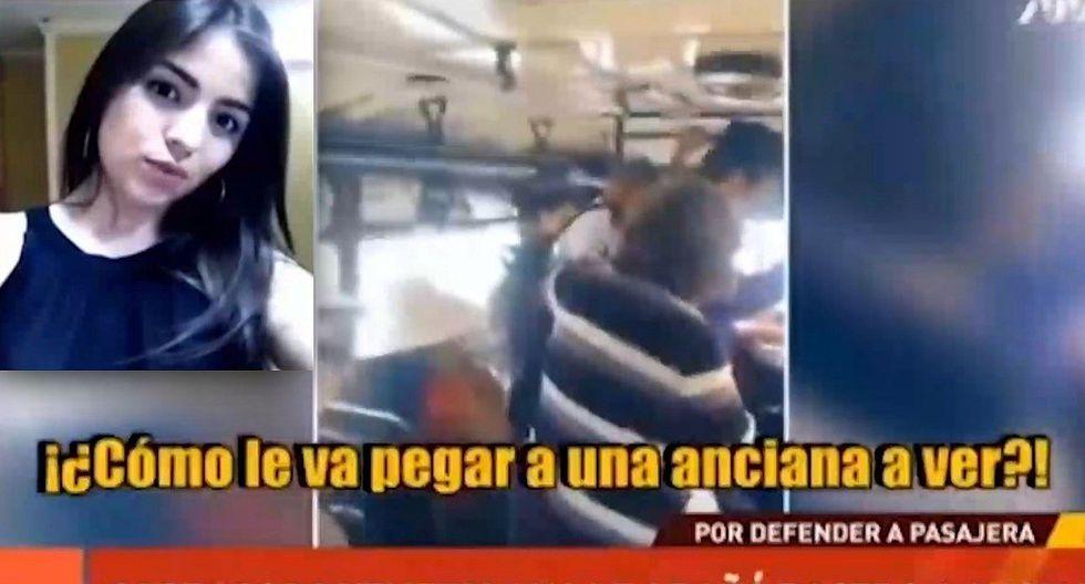 Cobradora venezolana agrede a mujer que le reclamó por no dejar bajar a anciana (VIDEO)
