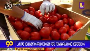 Día de la alimentación: La mitad de los alimentos producidos en el país terminan como desperdicios