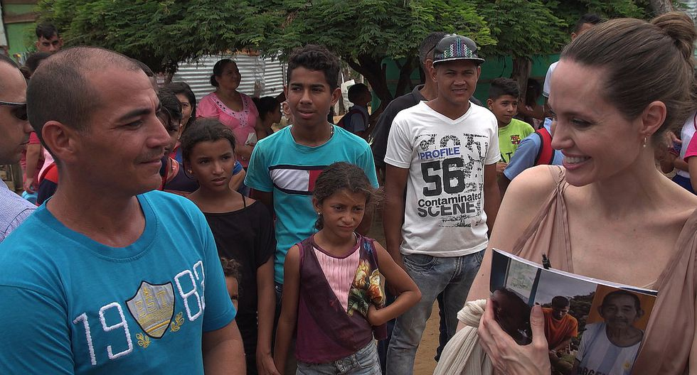 Angelina Jolie defendió a niños de migrantes venezolanos que viven en Colombia