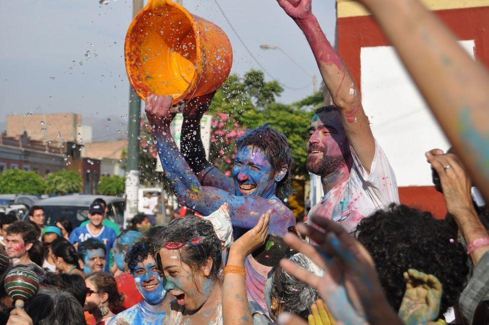 Miles de cajamarquinos celebran los carnavales y nadie se salva. La siguiente imagen fue publicada en Instagram.
