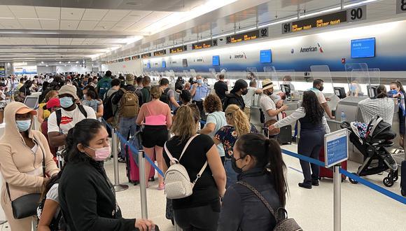Actualmente, las restricciones afectan a los 26 Estados europeos del espacio Schengen, además de Reino Unido, Irlanda, Brasil, China, Irán, Sudáfrica e India. (Foto: Daniel SLIM / AFP)