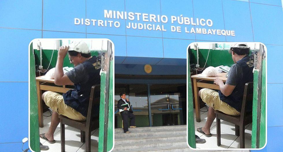 Inician proceso contra fiscal por acudir a trabajar en short, gorra y sandalias