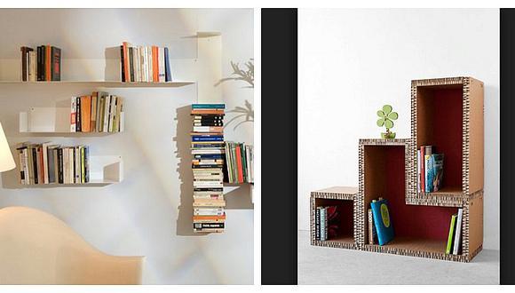 Cinco ideas creativas y fáciles para diseñar tu propia biblioteca