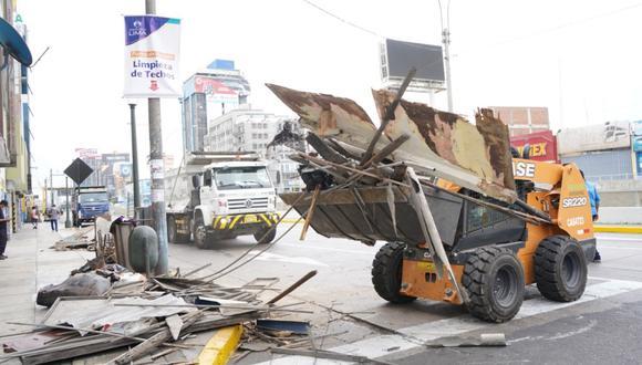 Los vecinos y comerciantes de la urbanización Santa Beatriz dejaron en los siete puntos de acopio maderas, muebles, sillas, mesas, cartones, plásticos, residuos de construcción, entre otros. (Foto: Municipalidad de Lima)