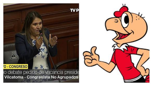 Yeni Vilcatoma hace comentario sobre 'Condorito' en debate de vacancia a PPK (VIDEO)